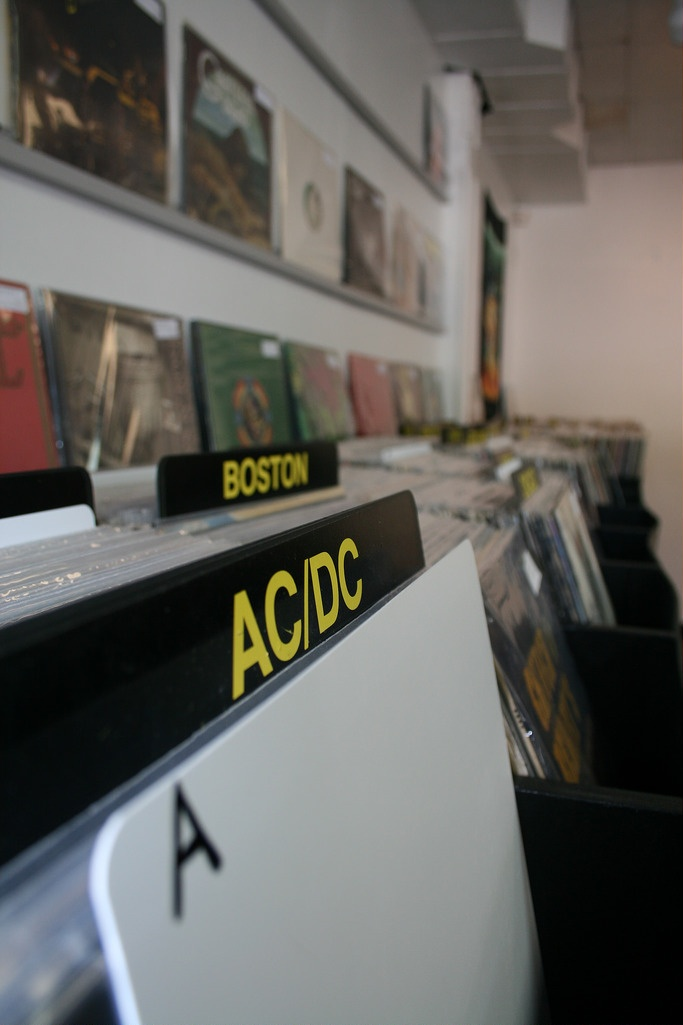we sell records, CD's, cassettes, Band T-shirts, Concert DVD's, Music Books, and countless other items of music memorabilia